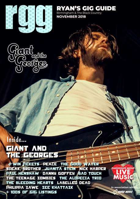 Ryan's Gig Guide Cover - November 2018